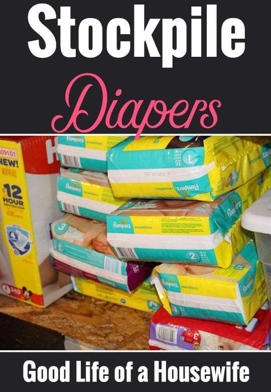 Start a diaper stockpile to help budget and prepare for baby.