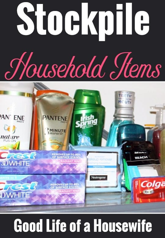 stock up on household items to prepare for baby