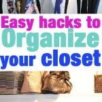 Easy Hacks to organize a master closet