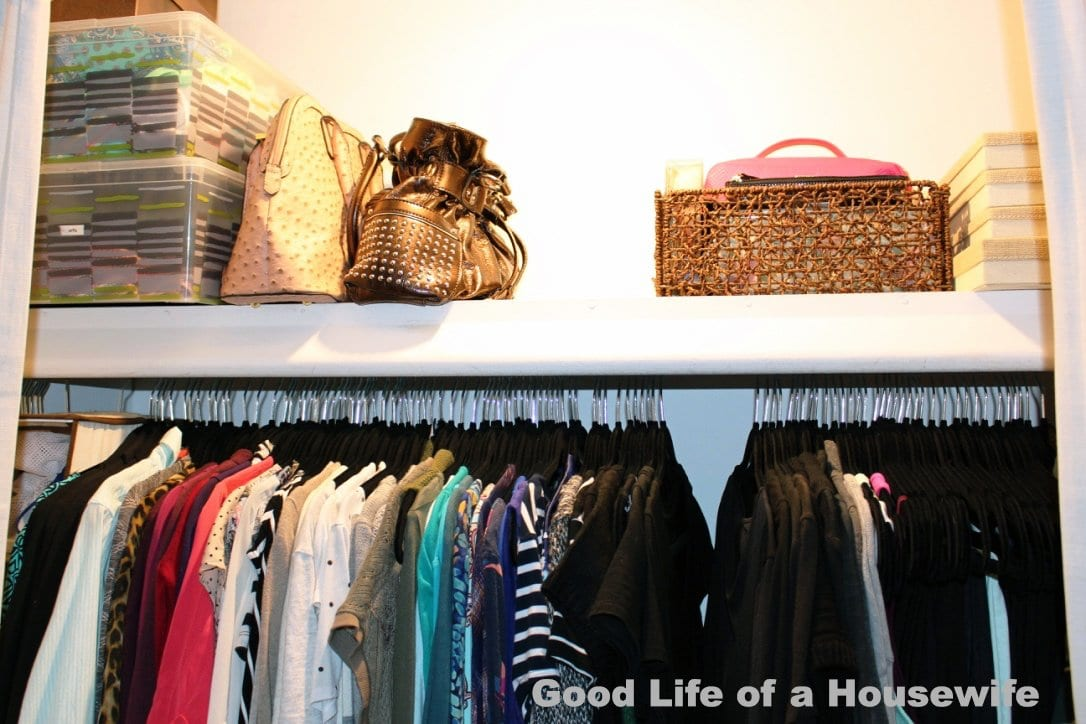 Keep your closet clean by stuffing your purses with plastics bags