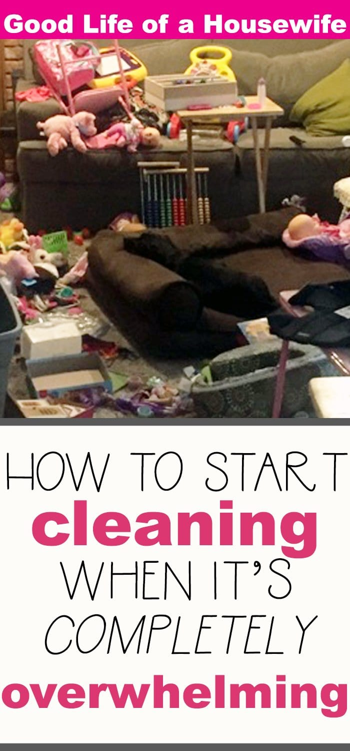 How to start cleaning when you don't know where to begin