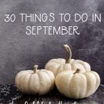 30 Things to Do in September