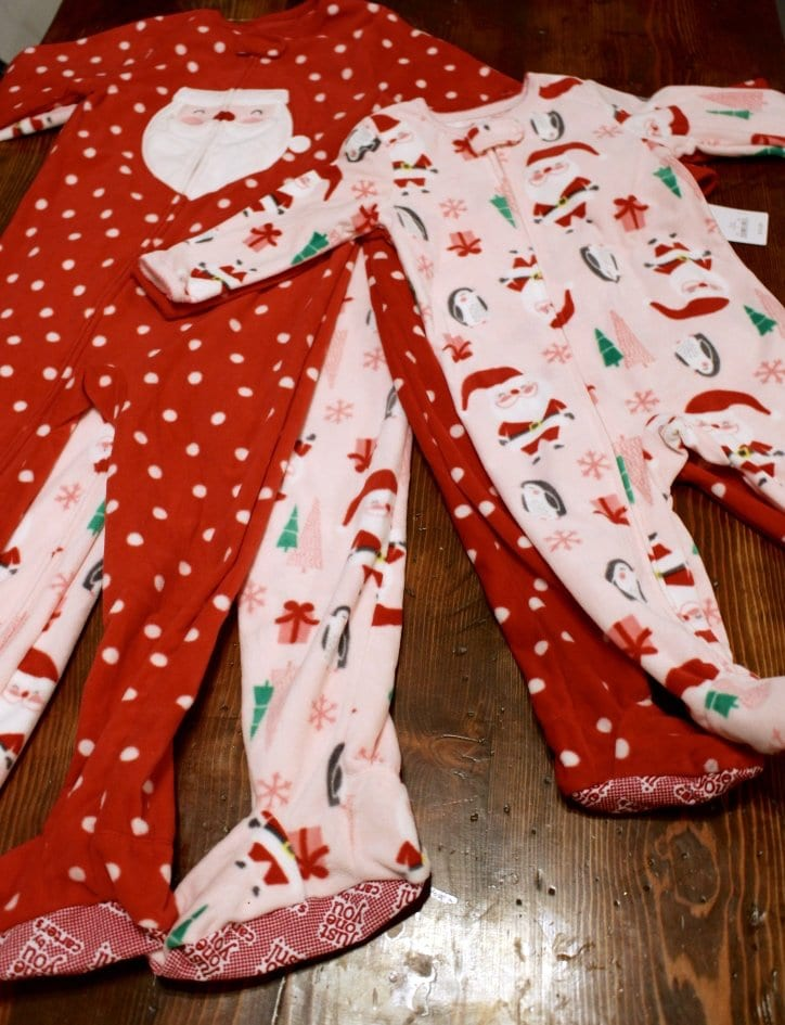 Matching Christmas sister pajamas.
