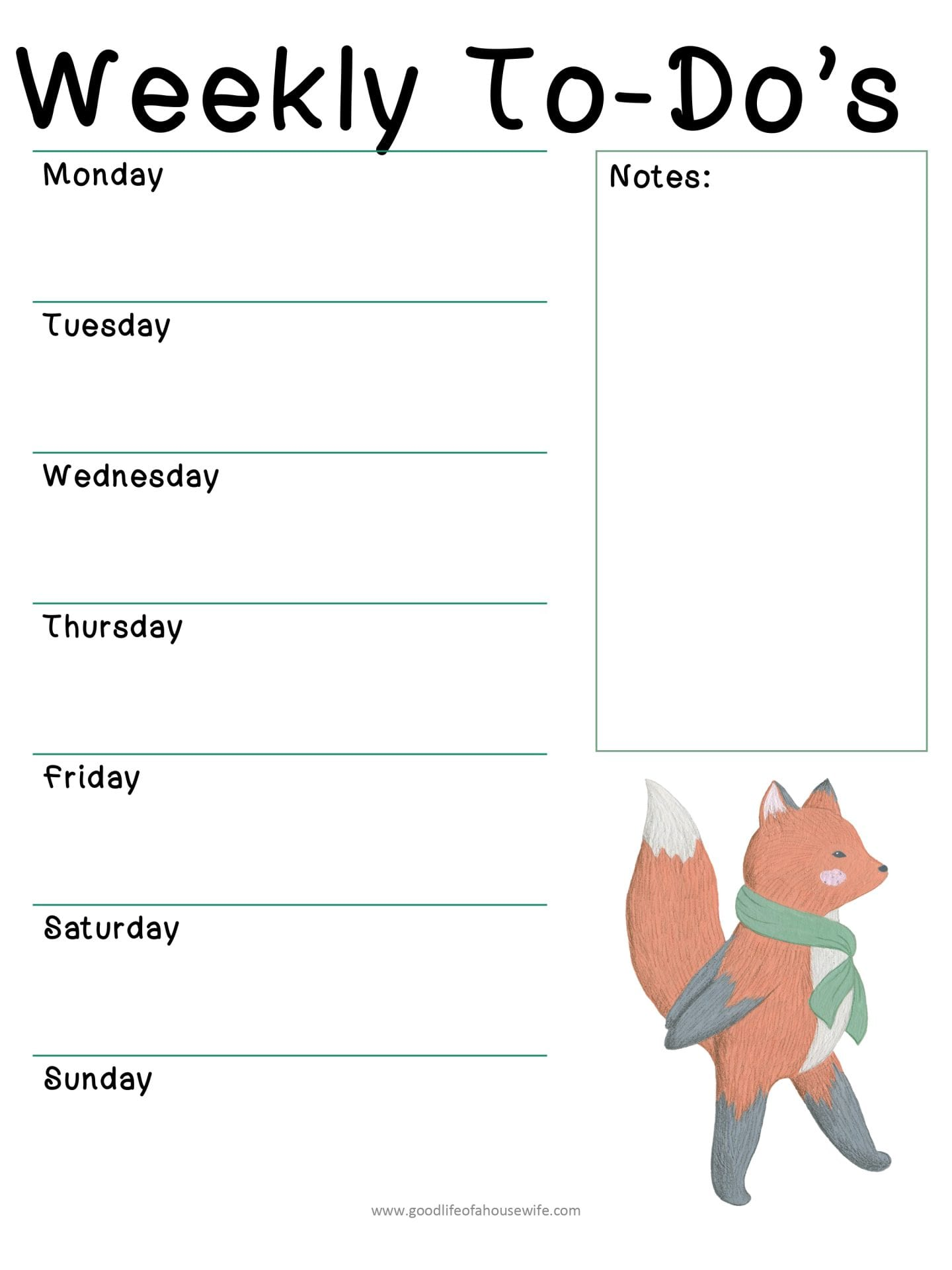 Weekly Christmas To do Planner