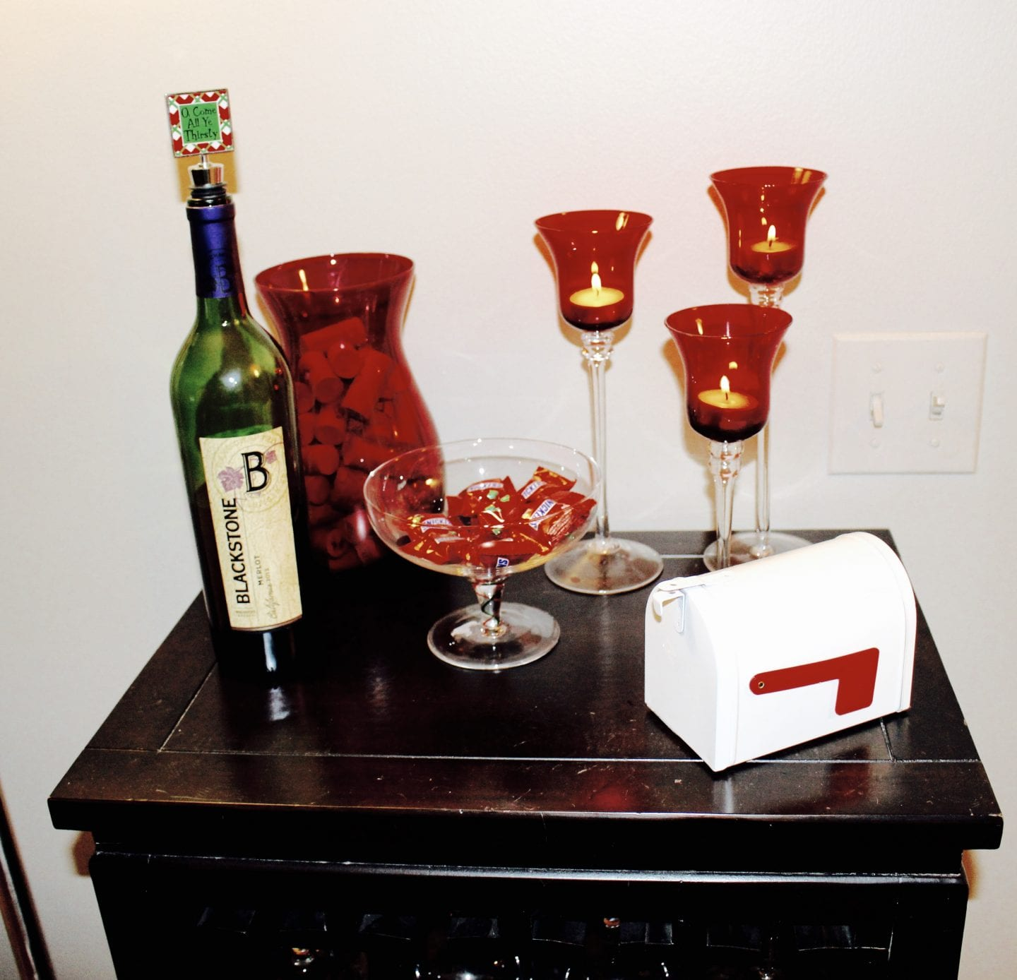 Decorate with Red at Christmas so you can leave it up until after Valentine's Day.