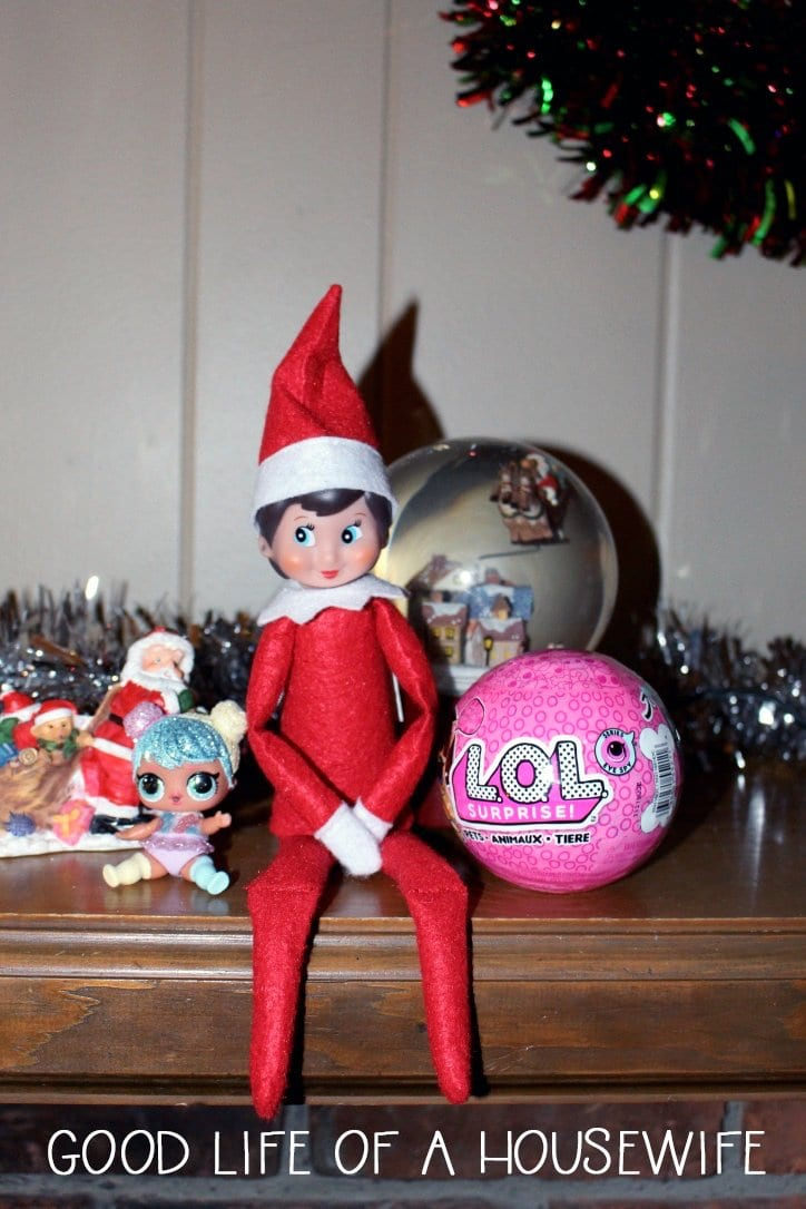 Elf on the shelf brings an LOL Doll back from the North Pole