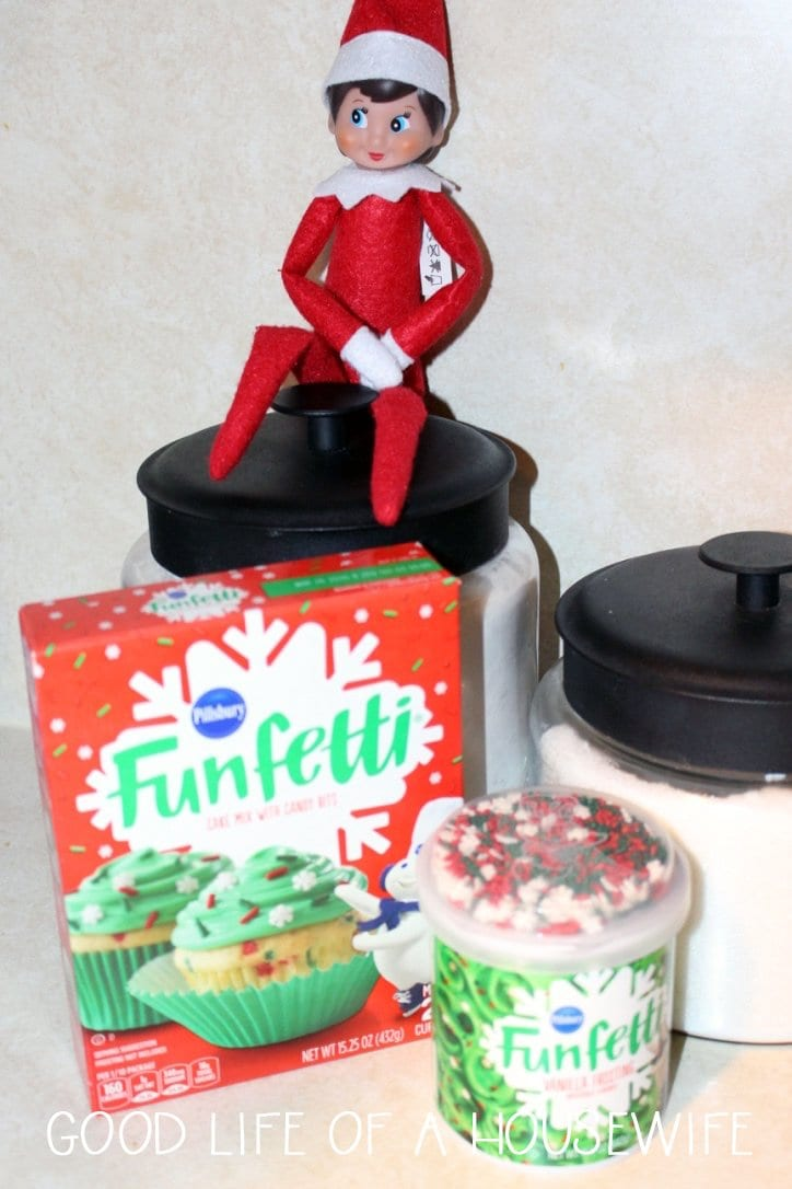 Elf on a Shelf Wants to Bake a cake