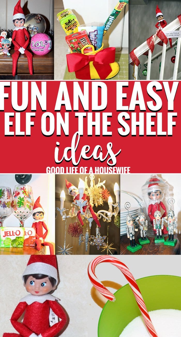 Fun and Easy Elf on a Shelf Ideas for Kids #elfontheshelf #elf #funelfontheshelfideas #elfontheshelffortoddlers #elfontheshelfideasforkids #busymomchristmas #stressfreechrismtas