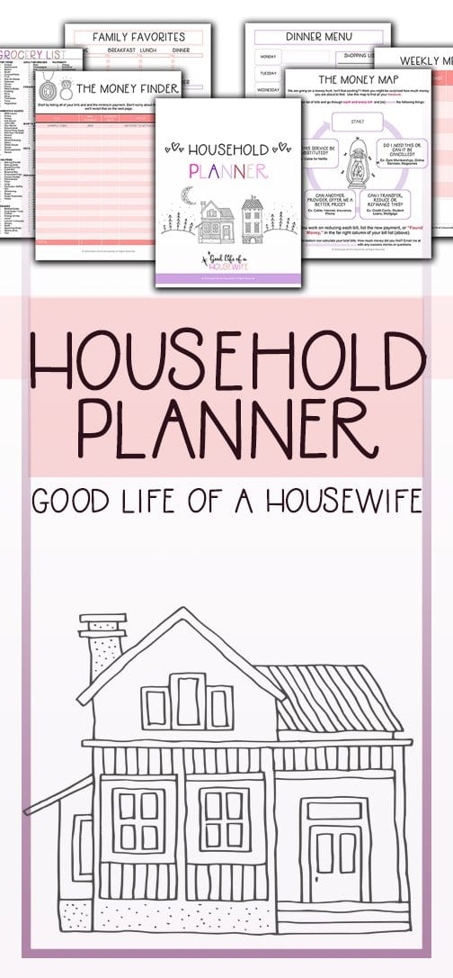 Family Household Planner and Meal Planner