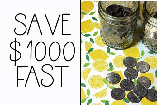 How to Save $ 1000.00 Fast