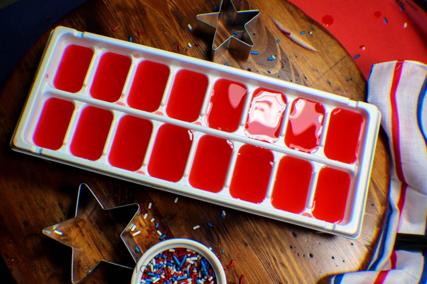 Fourth of July Patriotic Spritzer that's perfect for kids, BBQs and summer fun.