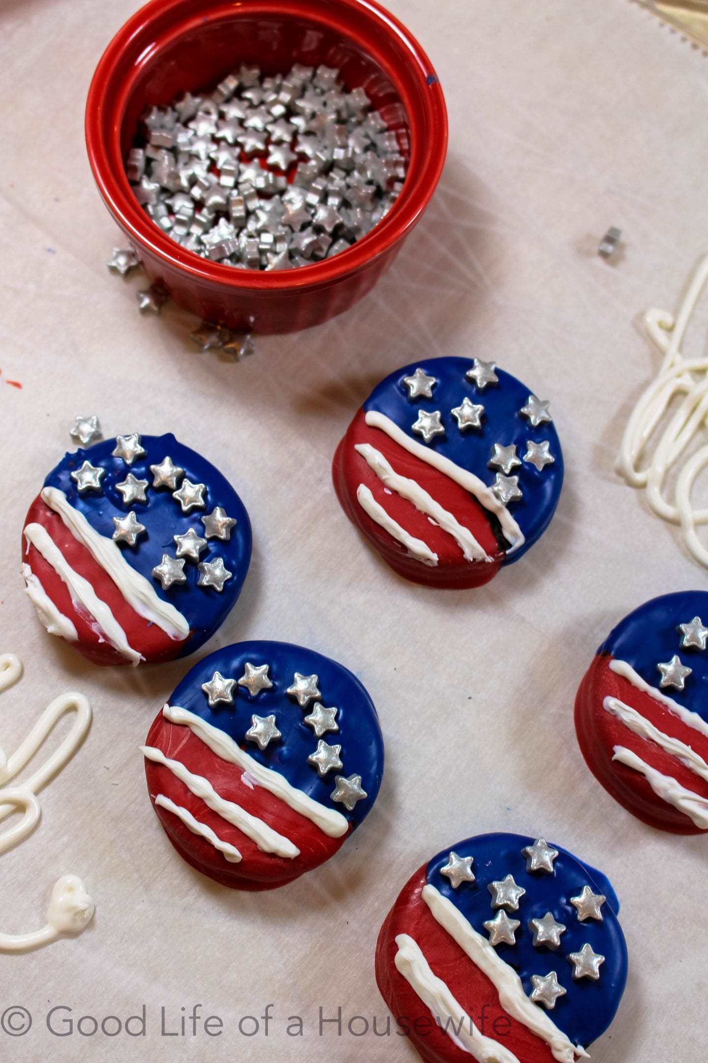 fourth of July Oreos