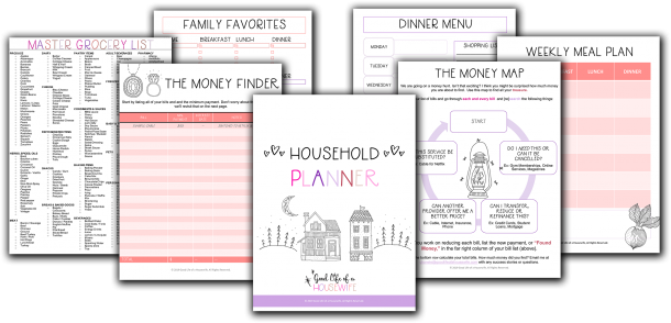 Free Household Planner Printables to create a more organized home.