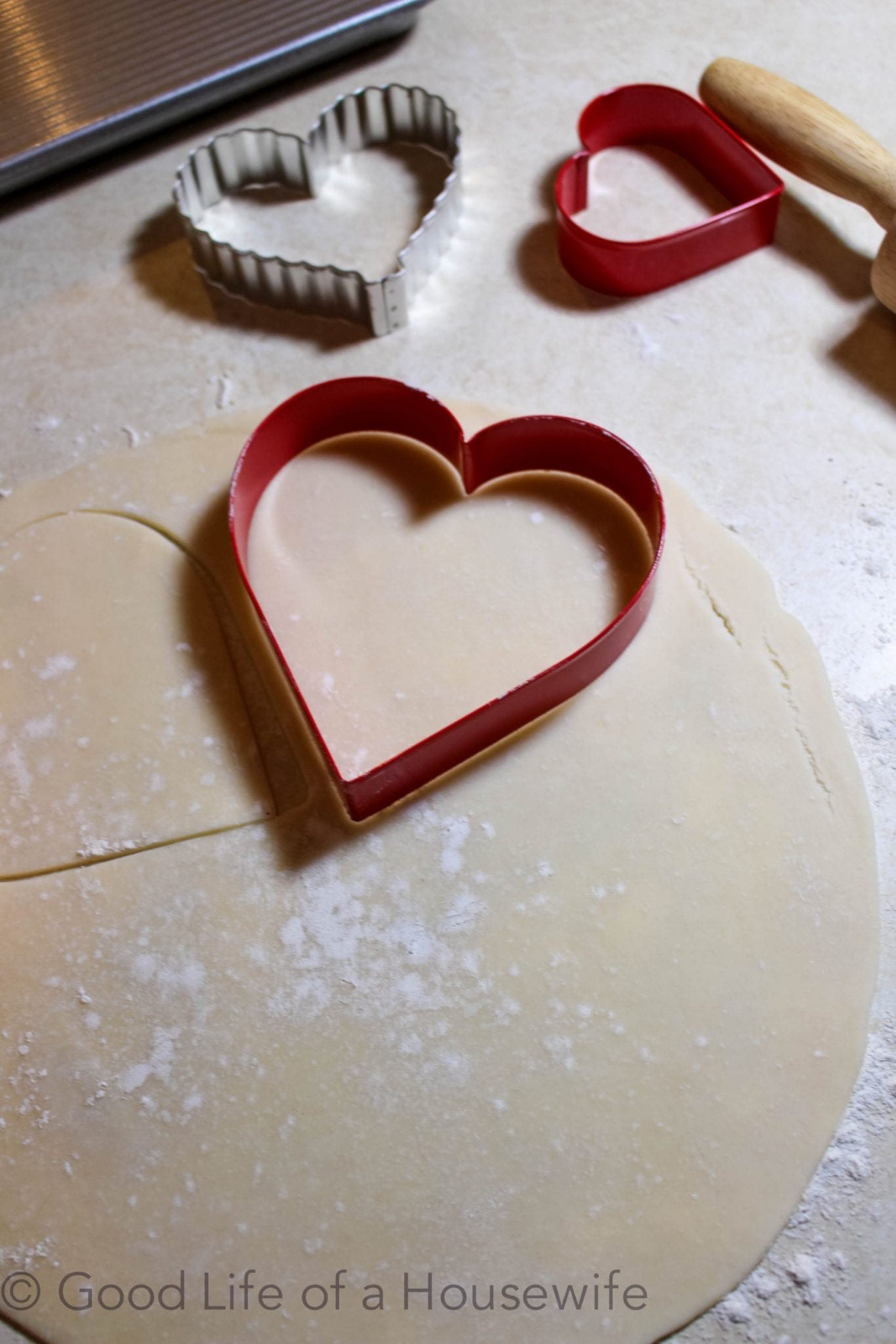 Heart shaped apple turnover for Valentine's Day