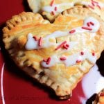 Valentine's Day mini apple pies