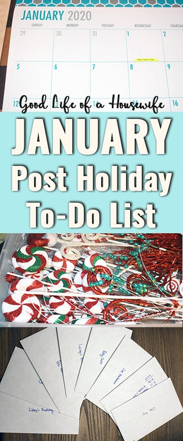January means packing away the Christmas decorations, reevaluating the money and getting the family organized for the new year. Here is a January Post Holiday to-do list to get your family New Year Ready.