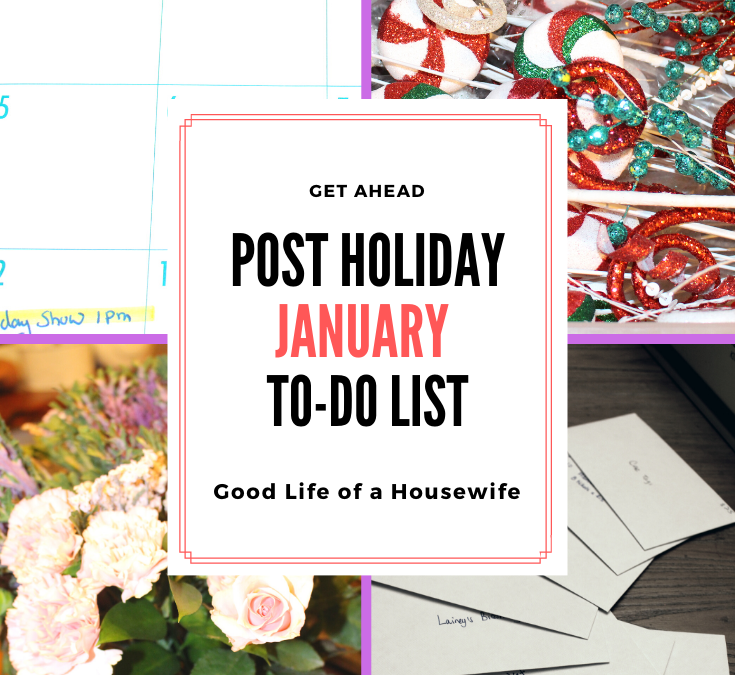 Post Holiday January To-Do List