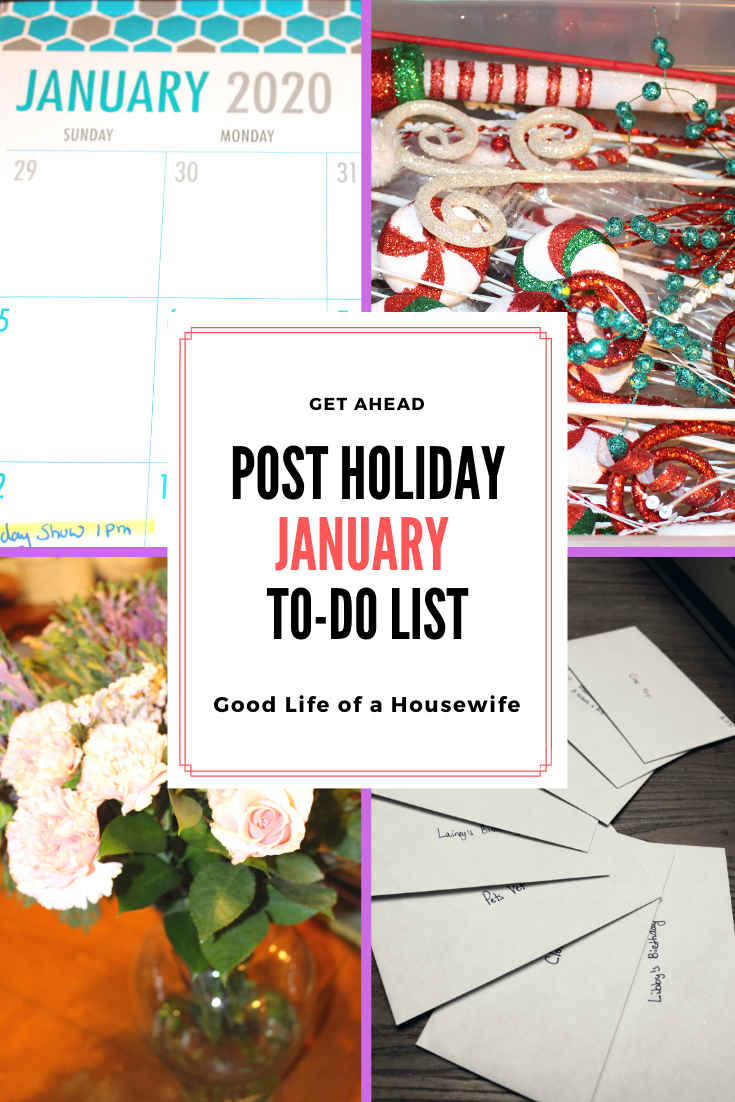 Post Holiday January Checklist