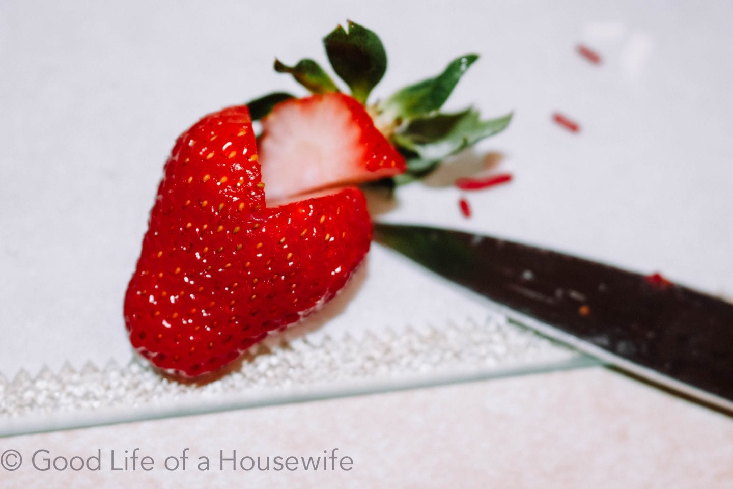Heart Strawberries for Valentine's Day