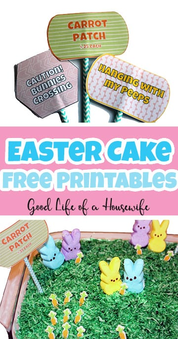 Easter Cake Decoration Free Printable