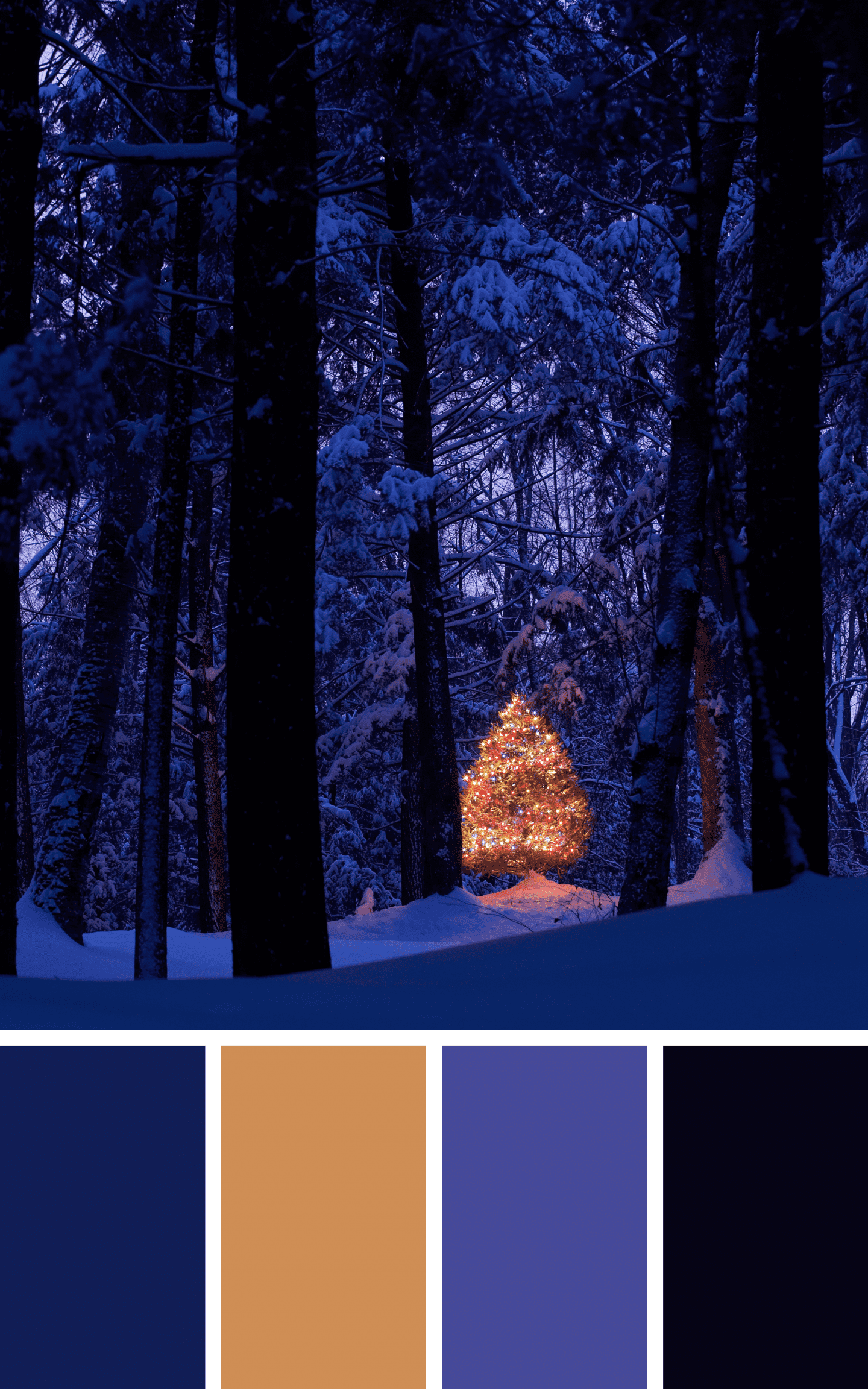 Christmas at Dusk - Winter Aesthetic - Good Life of a Housewife