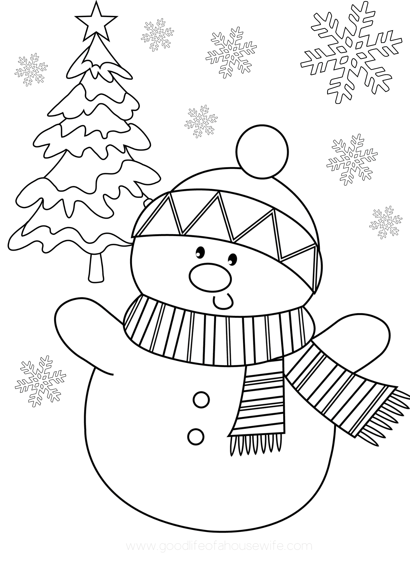 free praintable christmas coloring pages