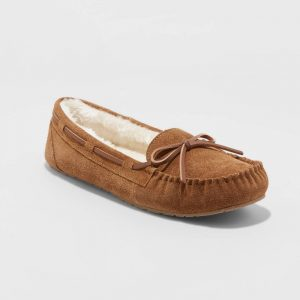 Women's Chaia Genuine Suede Moccasin Slippers – Stars Above