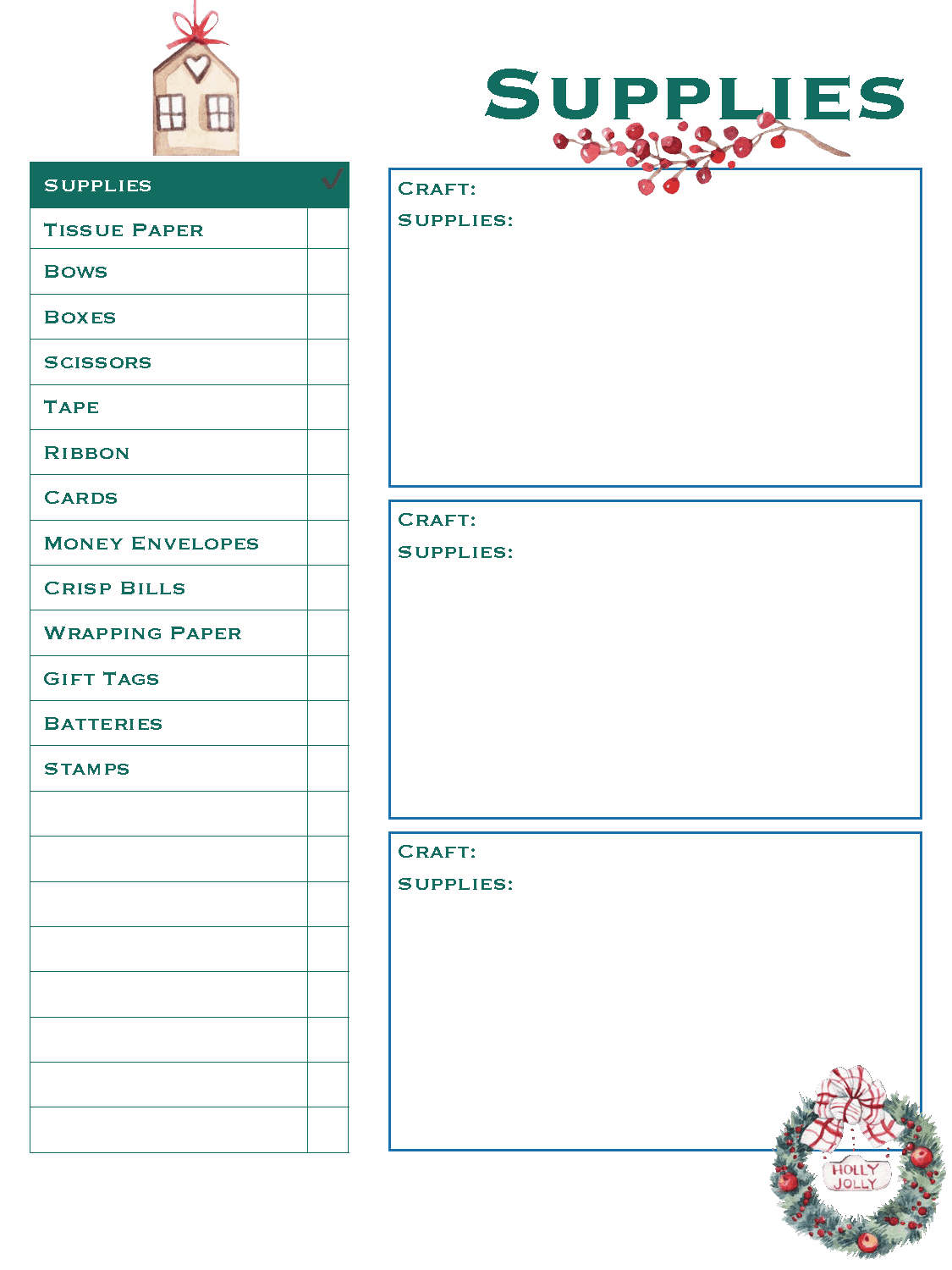 Supplies List - Christmas Planner - Good Life of a Housewife