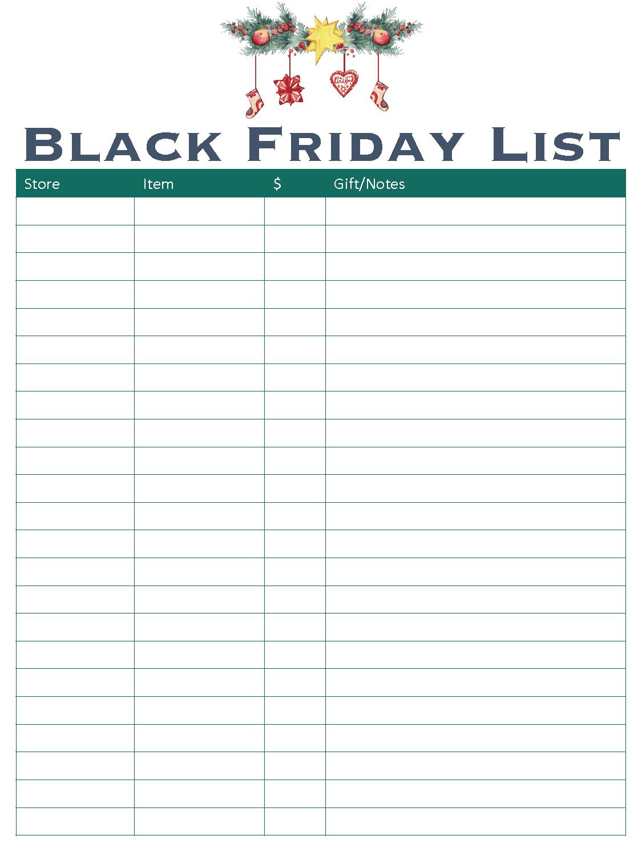 Black Friday Christmas Printable