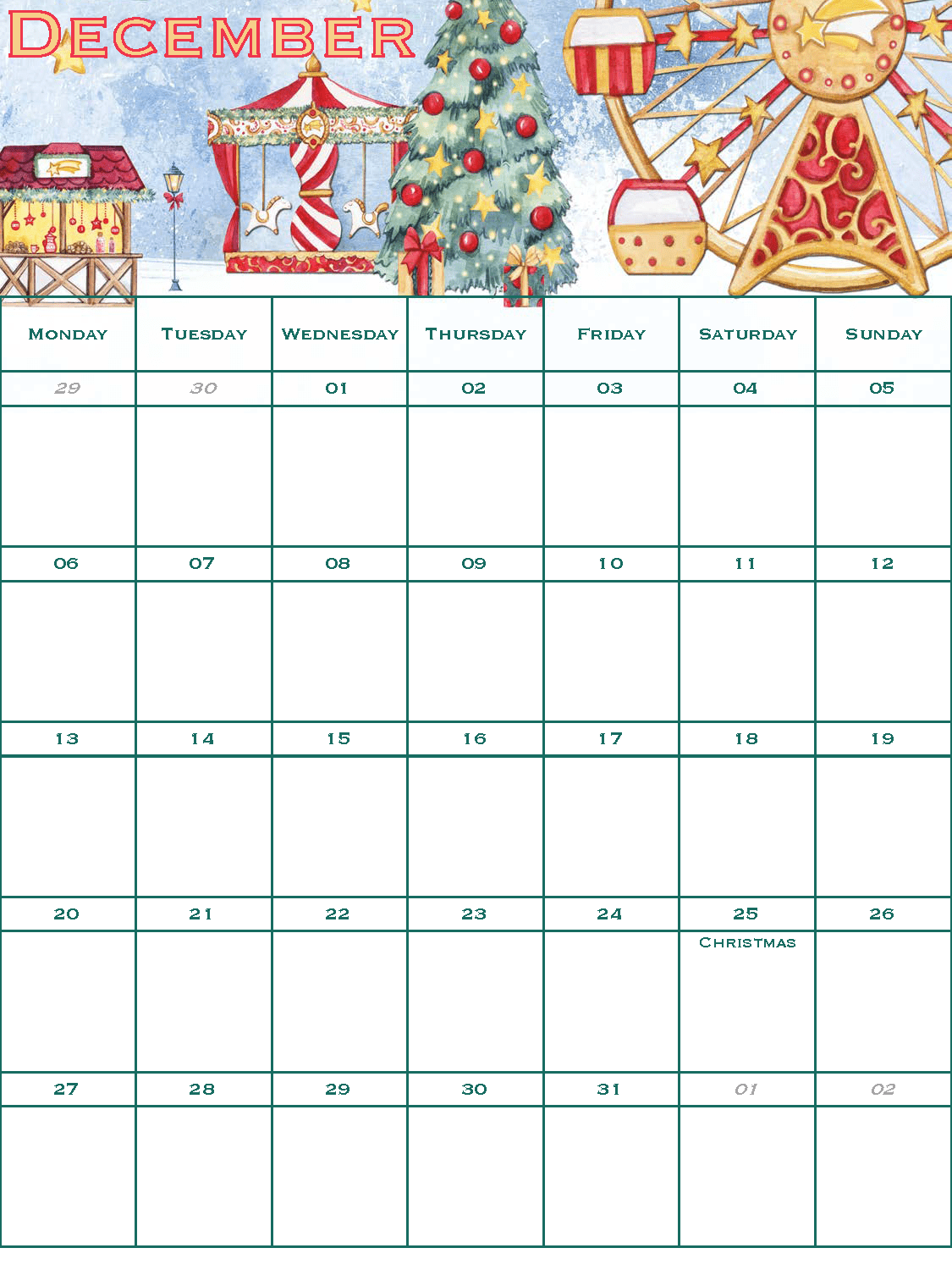 2021 Free Christmas Planner - Good Life of a Houewife